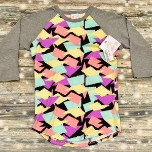 Lularoe XS Randy Shirt Multicolor Geometric Middle